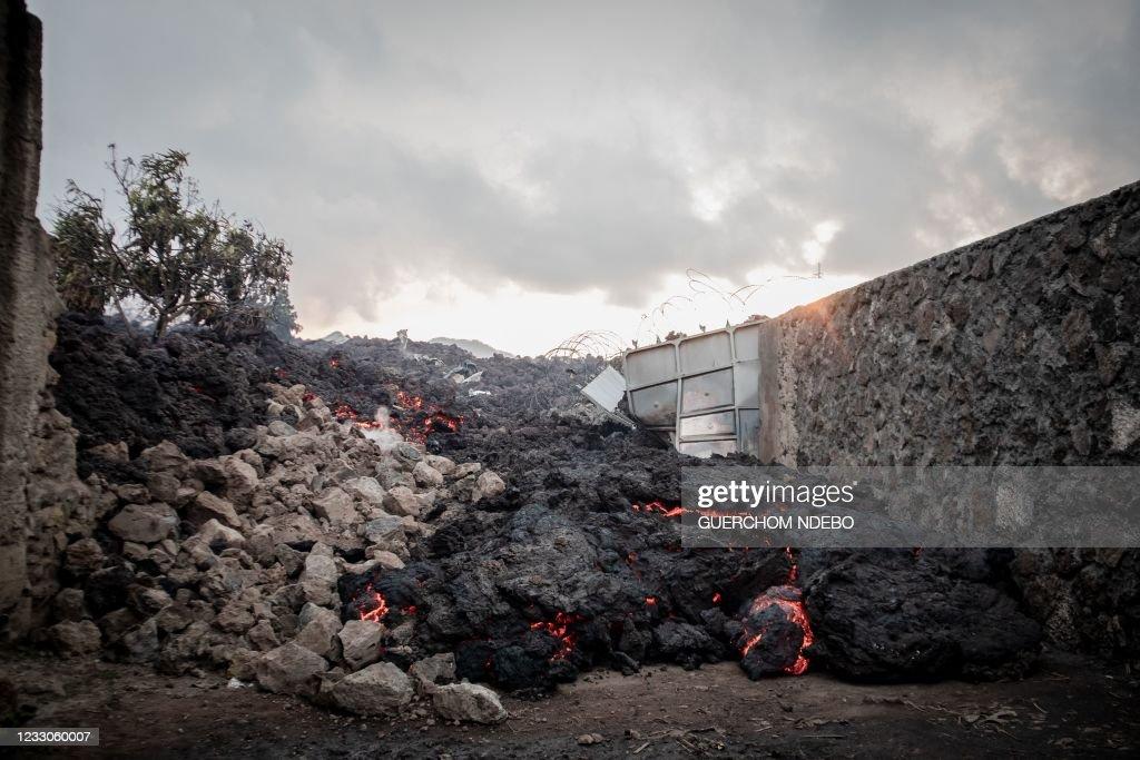 TOPSHOT-DRCONGO-VOLCANO : News Photo