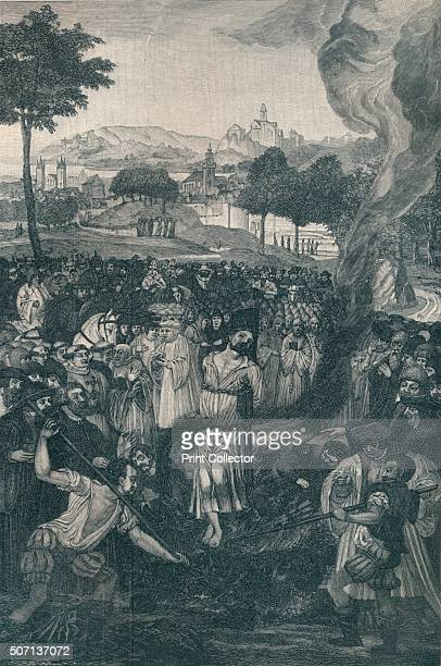 The Burning of John Huss by the Council of Constance July 6 1415' Jan Huss Czech priest philosopher early Christian reformer and Master at Charles...