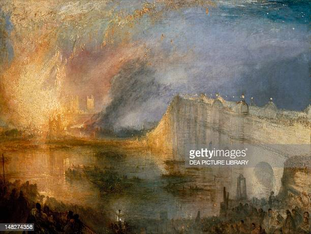The burning of the Houses of Parliament by Joseph Mallord William Turner Philadelphia Philadelphia Museum Of Art