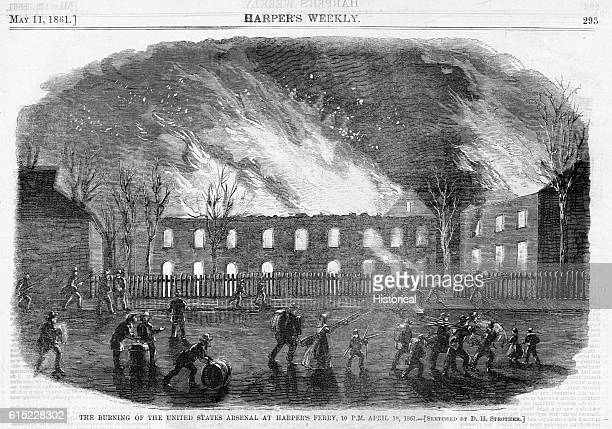 The Burning of the United States Arsenal at Harper's Ferry 10 PM April 18 1861