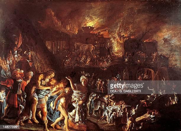 The burning of Troy ca 1604 by Adam Elsheimer Monaco Alte Pinakothek