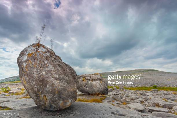 the burren, county clare, ireland - boulder county stock pictures, royalty-free photos & images