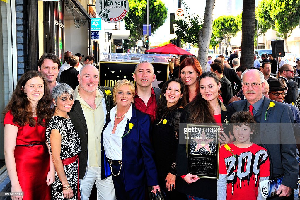 Richard Burton Honored With Star On The Hollywood Walk Of Fame Next To Elizabeth Taylor Star : News Photo