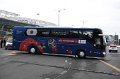 kazan russia bus carrying japan football