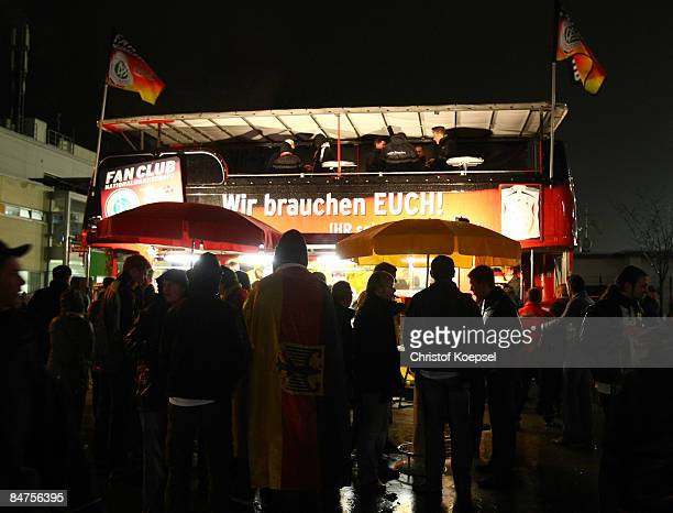 The bus of the Fanclub German Football National is seen before the International Friendly match between Germany and Norway at the LTU Arena...