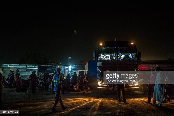 AGADEZ NIGER The bus station in Agadez Niger is the final stop before thousands of migrants continue their journey north through the Sahara desert...