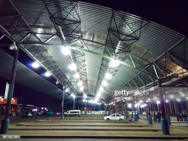the bus station place for rossentville - soweto stock pictures, royalty-free photos & images