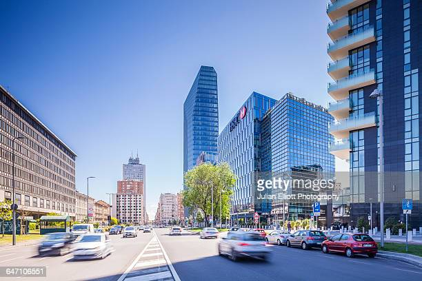The business district of Milan, Italy.