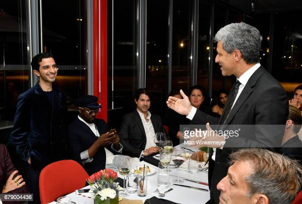 The Business of Fashion founder and editor-in-chief Imran Amed and LACMA's Michael Govan speak during an intimate dinner to celebrate The Business of...