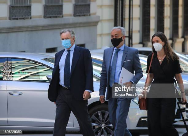 The businessman and husband of the former secretary general of the PP Maria Dolores de Cospedal, Ignacio Lopez del Hierro , on his arrival at the...
