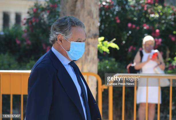 The businessman and husband of the former secretary general of the PP Maria Dolores de Cospedal, Ignacio Lopez del Hierro, on his arrival at the...