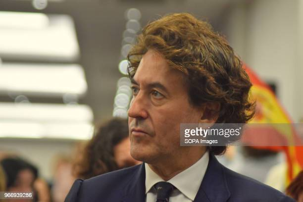 The businessman Álvaro de Marichalar attends the event that VOX has held today in Barcelona to explain the political and legal initiatives being...