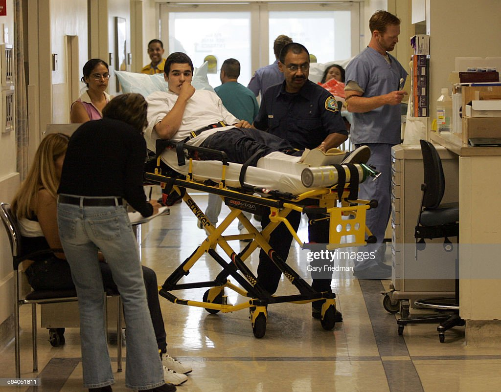 The busy emergency room at the Downey Regional Medical Center on ...