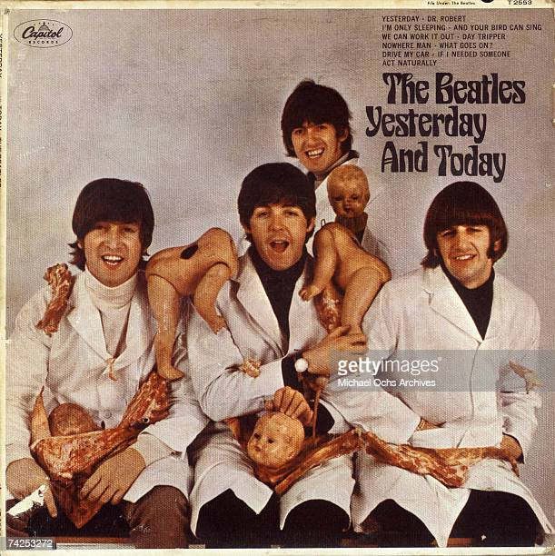 The Butcher version of the album cover for rock and roll band The Beatles album entitled Yesterday And Today which was released on June 14 1966 John...