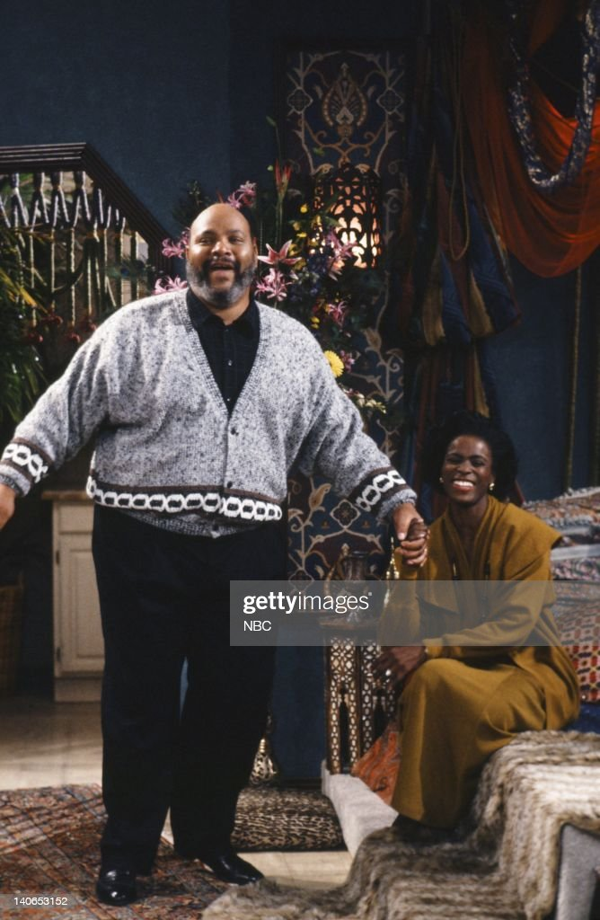 AIR -- 'The Butler Did It' Episode 11 -- Pictured: (l-r) James Avery as Philip Banks, Janet Hubert as Vivian Banks -- Photo by: Ron Tom/NBCU Photo Bank