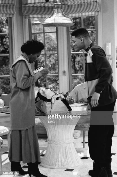AIR The Butler Did It Episode 11 Pictured Janet Hubert as Vivian Banks Will Smith as William 'Will' Smith Photo by Ron Tom/NBCU Photo Bank