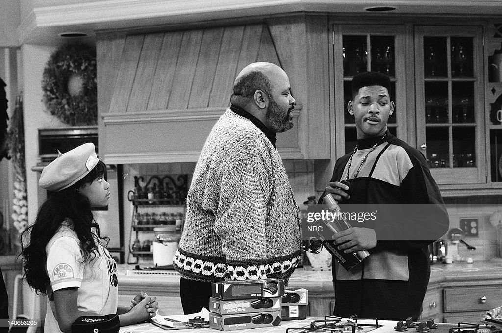 AIR -- 'The Butler Did It' Episode 11 -- Pictured: (l-r) Tatyana Ali as Ashley Banks, James Avery as Philip Banks, Will Smith as William 'Will' Smith -- Photo by: Ron Tom/NBCU Photo Bank