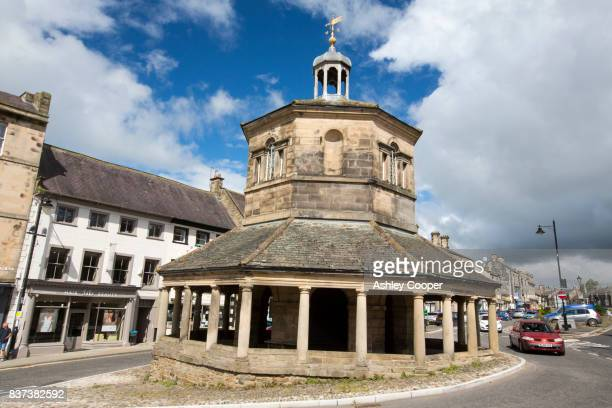 the butter market in barnard castle, county durham, uk. - barnard castle stock pictures, royalty-free photos & images