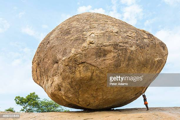 The Butterball rock at Mamallapuram Tamil Nadu
