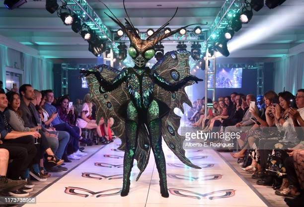 The Butterfly participates in a runway show for the premiere of Fox's The Masked Singer Season 2 at The Bazaar at the SLS Hotel Beverly Hills on...