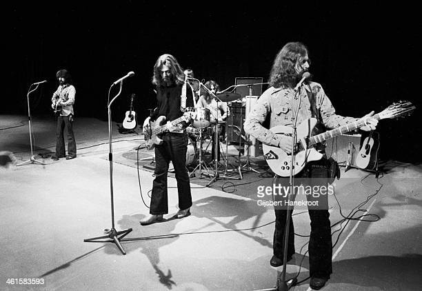 The Byrds perform live on stage in London in 1970 LR Clarence White Skip Battin Gene Parsons Roger McGuinn