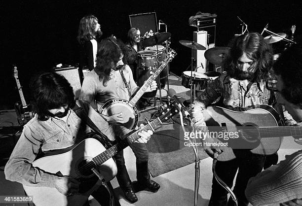 The Byrds perform live on stage in London in 1970 LR Clarence White Gene Parsons Skip Battin Roger McGuinn