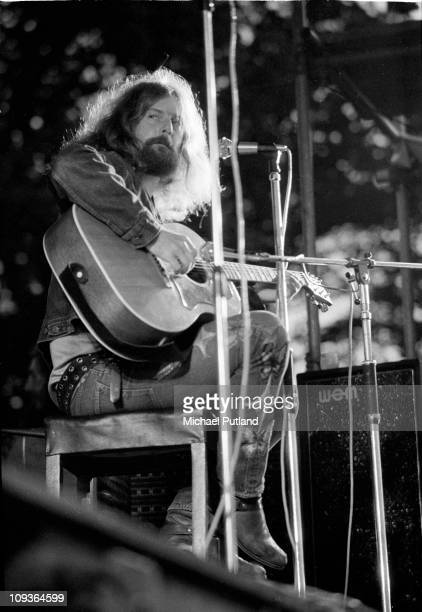 The Byrds perform on stage at Lincoln Festival 24th July 1971 Roger McGuinn