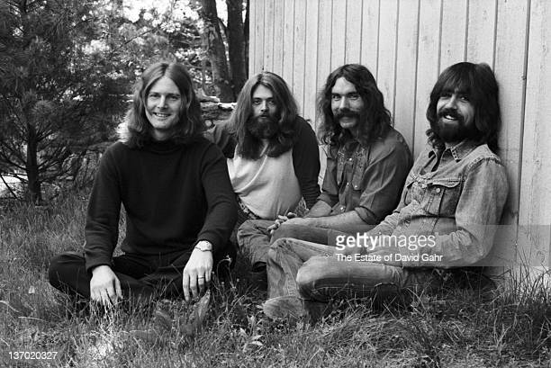 The Byrds pose for a portrait in June 1972 in Connecticut