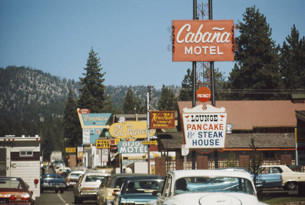 The Cabana Motel in South Lake Tahoe, California, August...