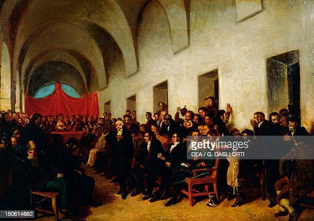 The Cabildo in session May 22 sketch by Juan Manuel Blanes Argentina 19th century