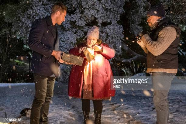 """The Cabin"""" Episode 412 -- Pictured: Justin Hartley as Kevin, Chrissy Metz as Kate, Sterling K. Brown as Randall --"""