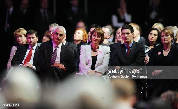 The Cabinet listens to Prime Minister Gordon Brown as he addresses the Labour Party conference at Manchester Central in Manchester