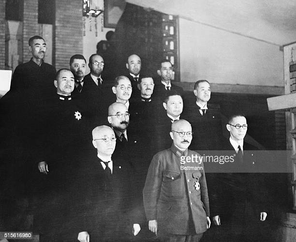 The cabinet of Tojo Hideki , effective military dictator of Japan, shortly after the bombing of Pearl Harbor.