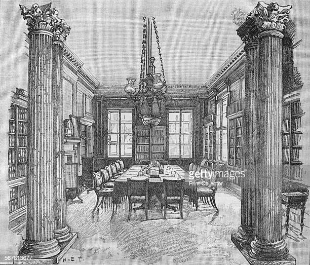 The Cabinet Room 10 Downing Street Westminster London 1906 From Cassell's Illustrated History of England Vol VIII [Cassell and Company Limited London...