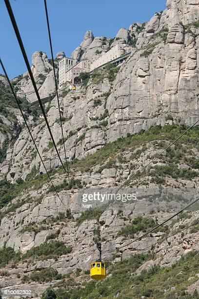 The Cable Car (Aeri de Montserrat) Monastery Montserrat, Barcelona, Spain