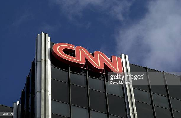 The Cable News Network logo adorns the top of CNN's offices on the Sunset Strip January 24 2000 in Hollywood CA CNN was hit with job cuts earlier...