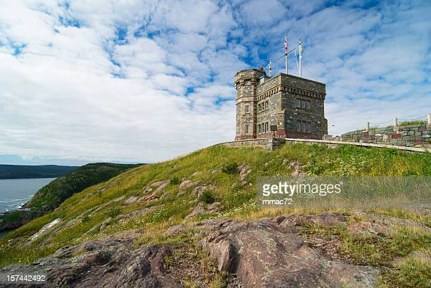 the cabot tower - st. john's newfoundland stock photos and pictures