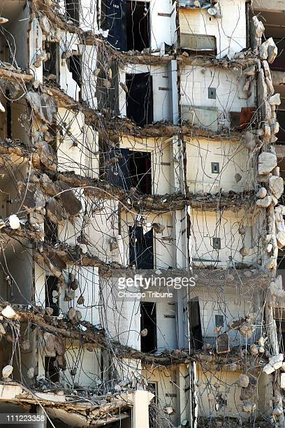 The CabriniGreen highrise building is razed in Chicago Illinois on Wednesday March 30 2011