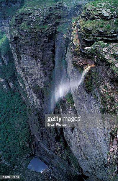 The Cachoeira da Fumaça is a 340 m tall waterfall in Bahia State northeast Brazil located in Chapada Diamantina an attractive region for adventurers...