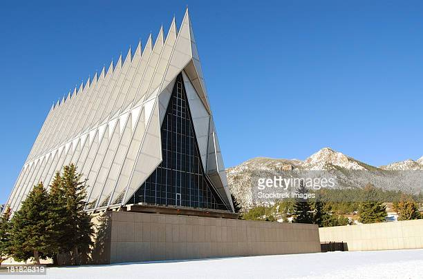 The Cadet Chapel at the U.S. Air Force Academy in Colorado Springs, Colorado.