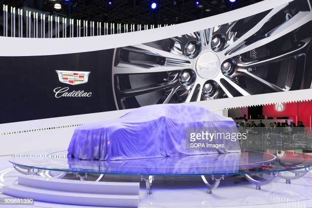 The Cadillac display at the New York International Auto Show in New York City The New York International Motor Show is being hosted in the Jacob...