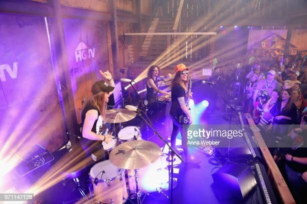 The Cadillac Three perform onstage in the HGTV Lodge at CMA Music Fest on June 10 2018 in Nashville Tennessee