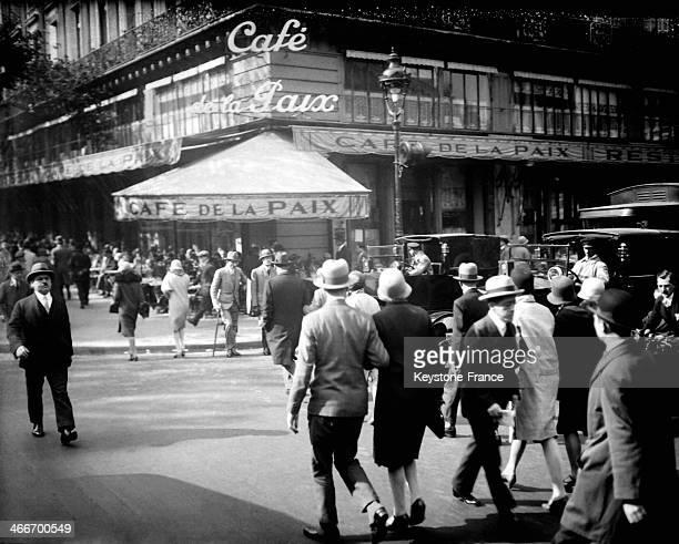 The Cafe de la Paix circa 1920 in Paris France