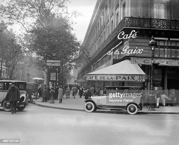 The Cafe de la Paix in 1928 in Paris France