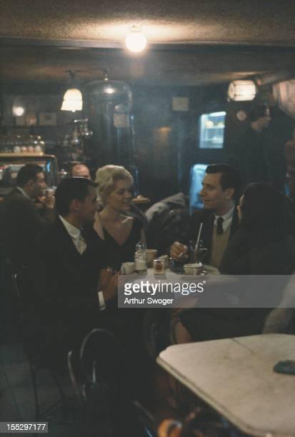 The Cafe Rienzi on MacDougal Street in Greenwich Village New York City circa 1960
