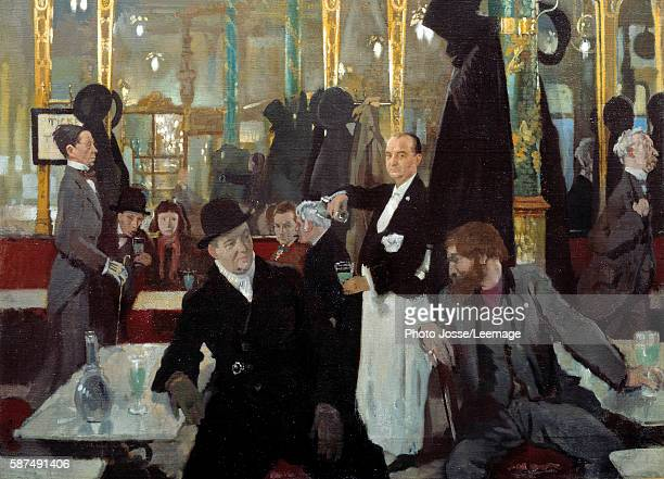 The Cafe Royal in London Detail Painting by Sir William Orpen 1912 Oil on canvas 137 x 113 m Orsay Museum Paris