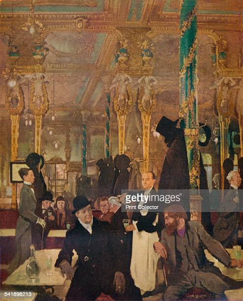 'The Cafe Royal London' 1912 From The Studio Volume 105 [The Offices of the Studio Ltd London 1933]Artist William Newenham Montague Orpen