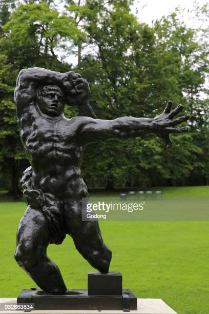 The Caillebotte estate in Yerres France Onelegged warrior Antoine Bourdelle bronze 18931902 France