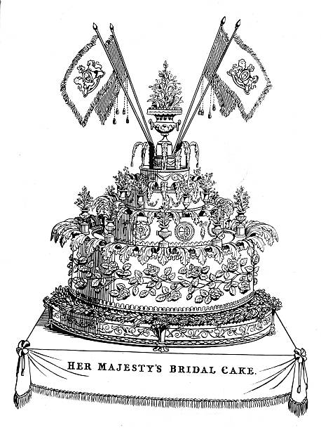 The cake made for the wedding of Queen Victoria and...