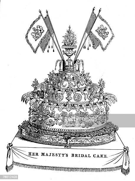 The cake made for the wedding of Queen Victoria and Prince Albert of SaxeCoburg and Gotha February 1840